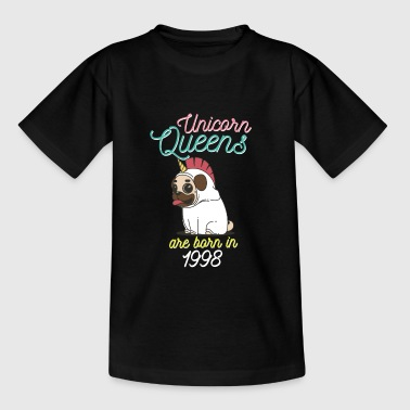 Unicorn Queens are born in 1998 - Teenage T-shirt