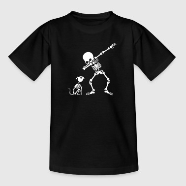 Dab dabbing skeleton Pet Cat Bones - T-shirt tonåring