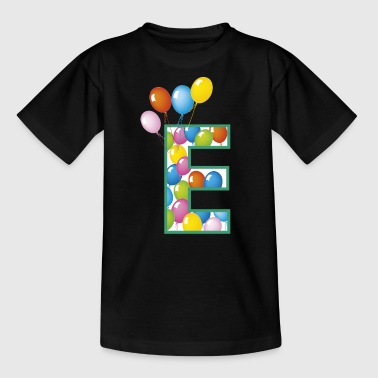letter E balloons - Teenage T-shirt