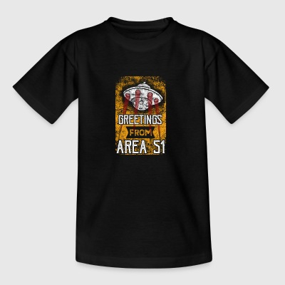 Greetings From Area 51 UFO - Teenage T-shirt