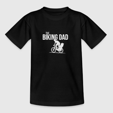 biking Dad father with child riding bicycles gift - Teenage T-shirt
