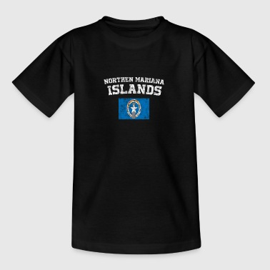 Northern Mariana Islands State Flag Look Wine - T-skjorte for tenåringer