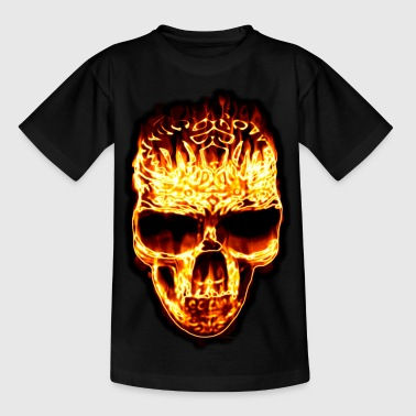 Fire Skull - Teenager T-Shirt