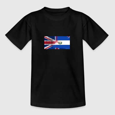 British Salvadoran Half El Salvador Half UK Flag - Teenage T-shirt
