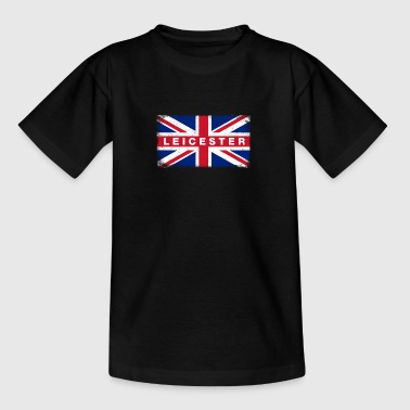 Leicester Shirt Vintage United Kingdom Flag - T-shirt tonåring
