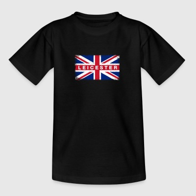 Leicester Shirt Vintage United Kingdom Flag - Teenage T-shirt
