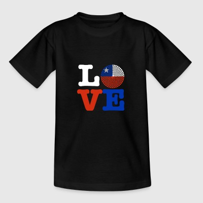 Chile Love Herz Mandala - Teenager T-Shirt