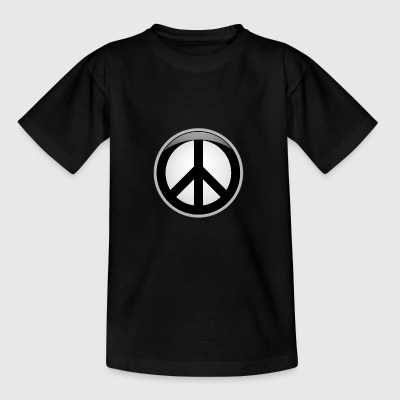 Peace button large - Teenage T-shirt