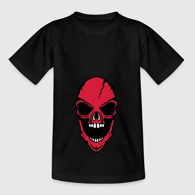 scary death head halloween open mouth - Teenage T-shirt