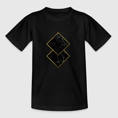 Marble Squares - Teenager T-Shirt