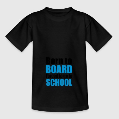 2541614 13014451 snowboard - Teenage T-shirt