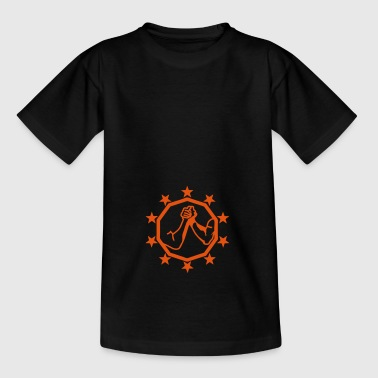 arm worstelen arm ijzer logo13 - Teenager T-shirt