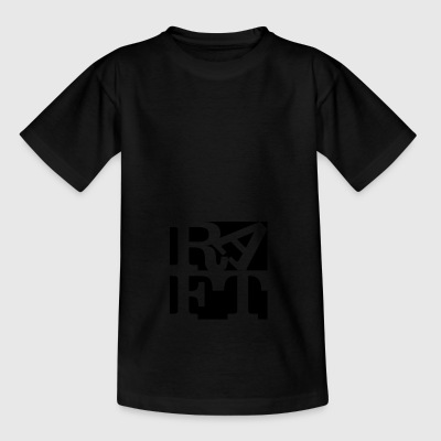 raft homage to Robert Indiana black outside - Teenage T-shirt