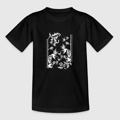 Floral bamboo wite - Teenage T-shirt