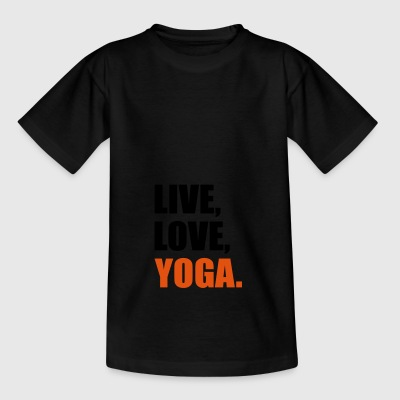 2541614 14518232 yoga - Teenager-T-shirt