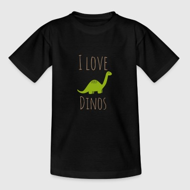 I love Dinos - Teenage T-shirt