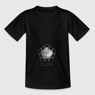 Play Station Nerd Gamer Space cpu pc piramide cont - Teenager T-shirt