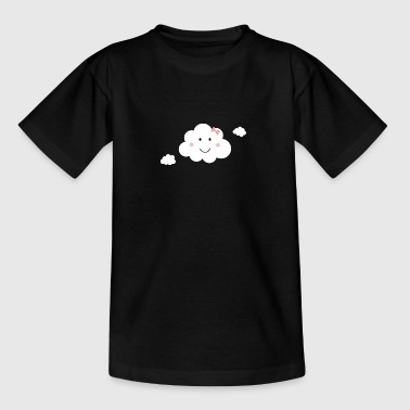 Happy cloud with Pink Ribbon - Teenage T-shirt