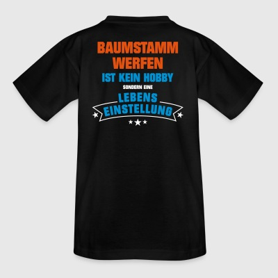 Baumstammwerfen Sportart - Teenager T-Shirt
