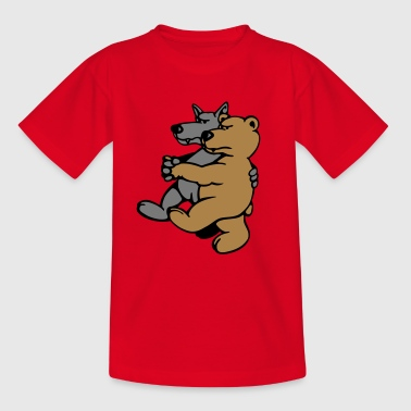 Ulv og Bear Forklæder - Teenager-T-shirt