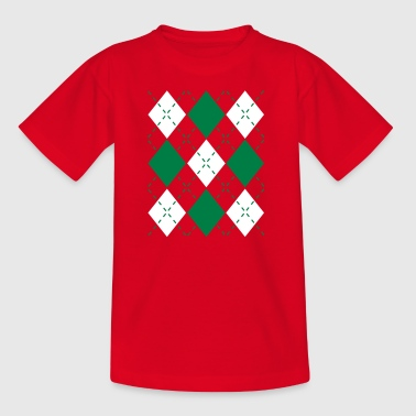 Ugly Argyle lozenges pattern Christmas sweater - Maglietta per ragazzi