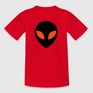 Alien, extraterrestially, UFO, extraterrestrially, universe, grounds, Mars, male, Mars male, fear, eyes, head, saucer, flying, flying, universe, saucer, spaceship, space, universe  - T-shirt tonåring