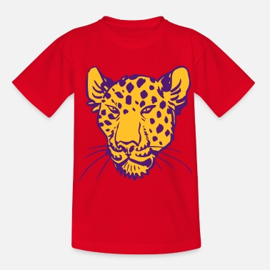 Impresión Plot Cabeza de Leopardo por Cheerful Madness!! - Camiseta adolescente