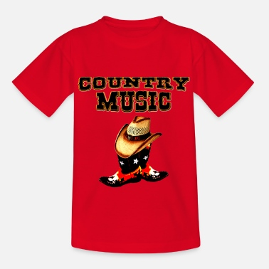Country Music country music - Camiseta adolescente