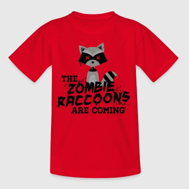 Cute and Funny Zombie Raccoon for halloween - Teenager T-shirt