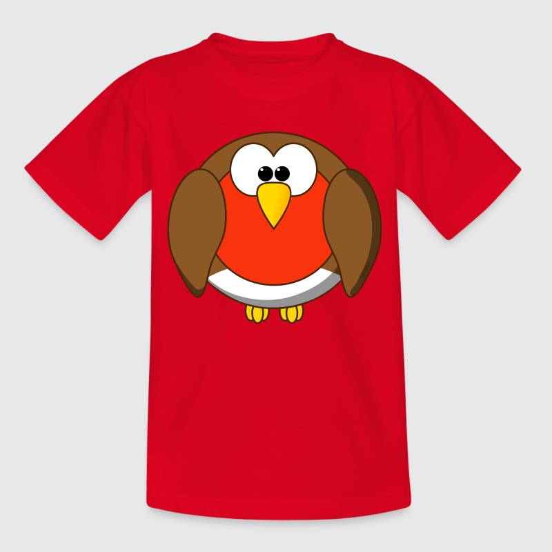 Funny Robin Redbreast Cartoon - Teenage T-shirt