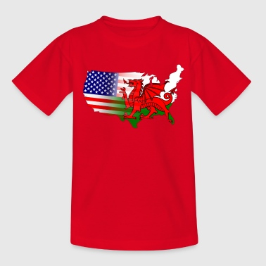 American Welsh Flag - Teenage T-shirt