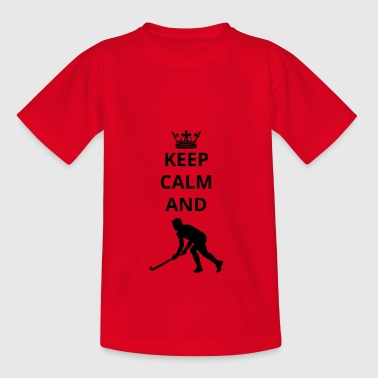 gift houd kalm en hockey hockey png - Teenager T-shirt