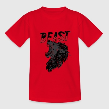 Lion Roaring Beast Shirts & Gifts - Teenage T-Shirt