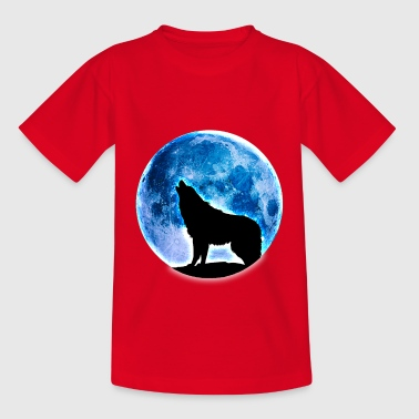 Wolf Vollmond - Teenager T-Shirt