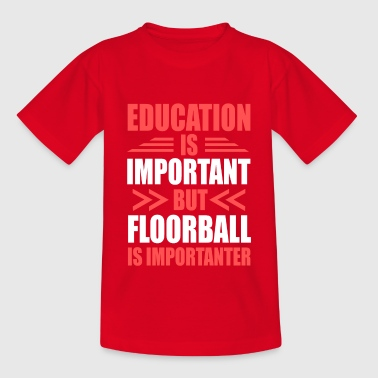 Unihockey - Teenager T-Shirt