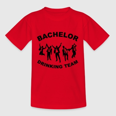 Drinkende team BACHELORPARTY - Teenager T-shirt