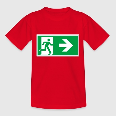 Rescue sticker sticker emergency exit after right - Teenage T-Shirt
