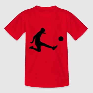 silhouette/ Fußball - Teenager T-Shirt