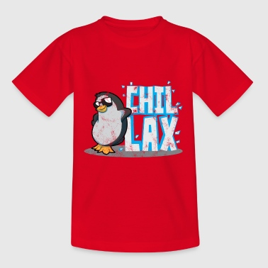 Pinguin Chillen Chillax Entspannen Tiere - Teenager T-Shirt