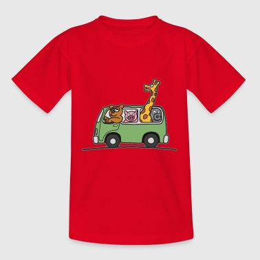 Tier Zoo Bus Kinder T Shirt - Teenager T-Shirt