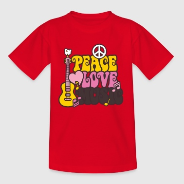 Peace & Love & Music - Teenager-T-shirt