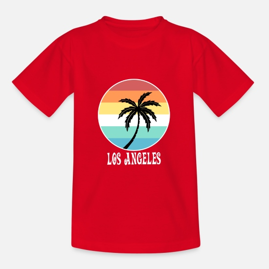 Meer T-Shirts - Los Angeles - Teenager T-Shirt Rot
