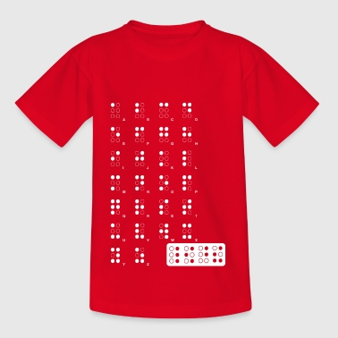 Braille wite - Teenager-T-shirt