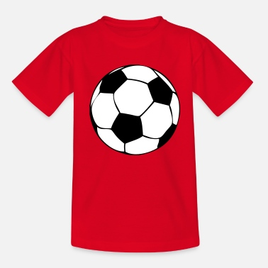Flank to football, sport, leathers, play, Beckenbauer, world champion, Germany, Brazil, stadium, offside, gate, passport, flank, stürmer, defense, centre zone, eleven-meter, corner, line, net, flanks race to ball, approximately,  - Teenage T-Shirt