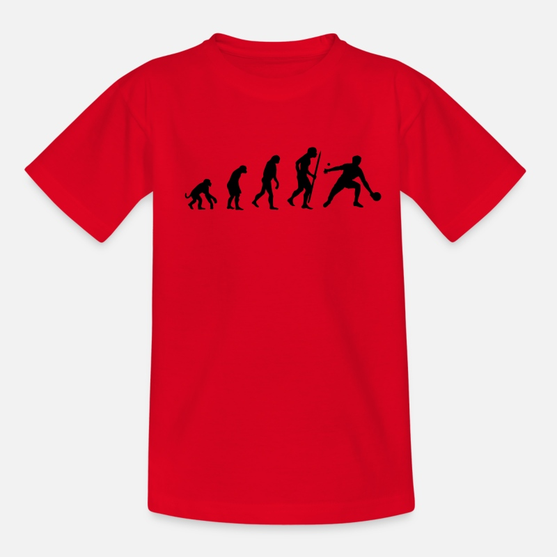 Table T-shirts - Evolution of Ping Pong/ table tennis - T-shirt Ado rouge