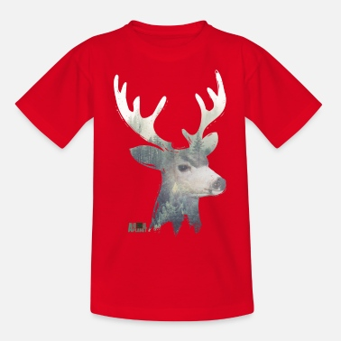 Animal Planet Beautiful Deer Forest Landscape - Teenage T-Shirt