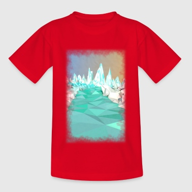 Glaciar Low Poly - Camiseta adolescente
