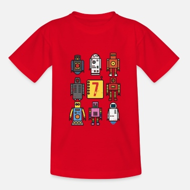 Robodance Retro Roboter 7. Geburtstag - Teenager T-Shirt