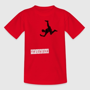 Tricking hindernisbaan Salto en FlikFlak trucs - Teenager T-shirt