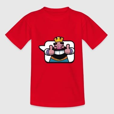 Emoticon King Royale Clash - Teenage T-Shirt